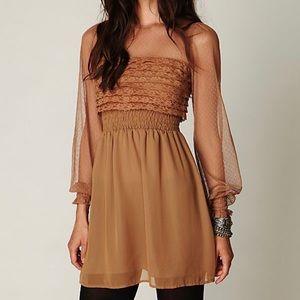 Free People Vintage Lace Long Sleeve Dress NWOT